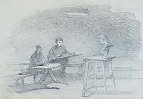 Drawing Class at the Association Polytechnique, Paris
