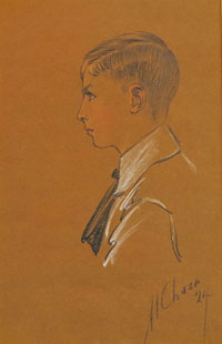 Portrait of a Young Boy in Profile