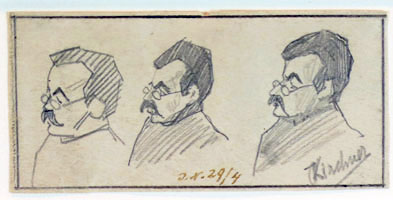 Three Studies of a Man's Head