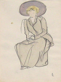 Seated Woman with a Large Hat