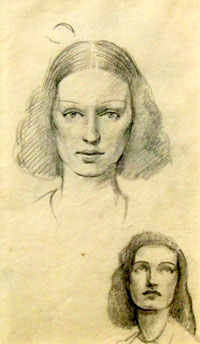 A Study of Two Women's Heads