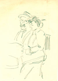 A Man and a Woman Seated at a Café