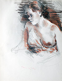 A Draped Female Nude, Facing Right