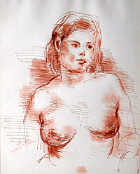 Female Nude, Looking to the Right
