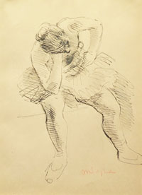 Seated Dancer with Her Elbow on her Knee