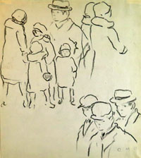 Studies of People Wearing Hats & Caps