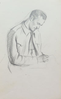 Seated, Writing