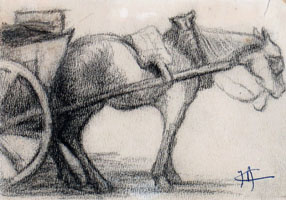 A Study of a Horse and Cart
