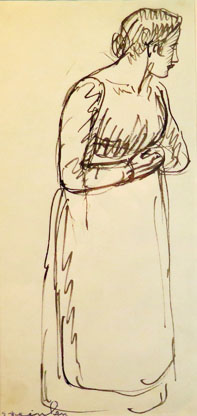 Study of a Woman Wearing an Apron