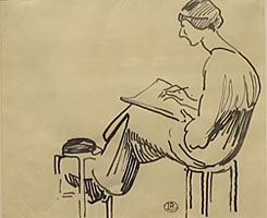 A Woman Drawing