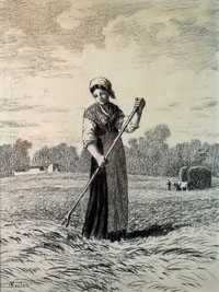 A Peasant Woman in the Fields