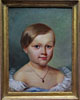 Portrait of a Young Girl Wearing a Locket